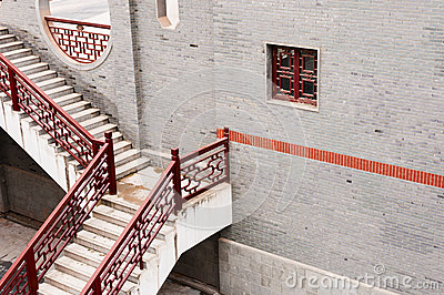 Architecture chinoise les escaliers photos stock image for Architecture chinoise