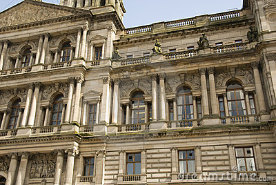 Architecture detail of Glasgow City Chambers