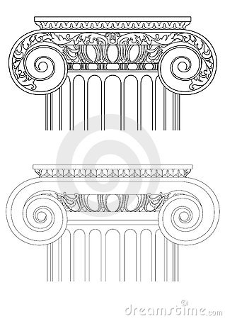 Architecture detail , vector classic column