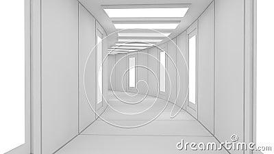 architecture futuriste d int rieur de technologie. Black Bedroom Furniture Sets. Home Design Ideas