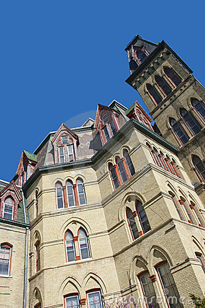 Architecture gothique victorienne de type image stock for Architecture victorienne