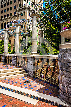 Free Architecture In Pack Square Park, Asheville, North Carolina. Royalty Free Stock Images - 47444849