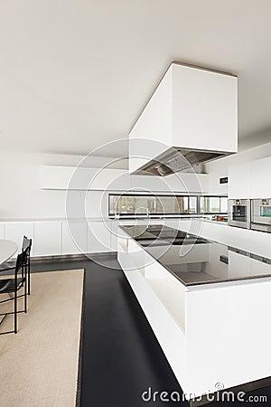 Architecture, interior of a modern villa