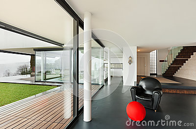 Architecture, interior of a modern villa