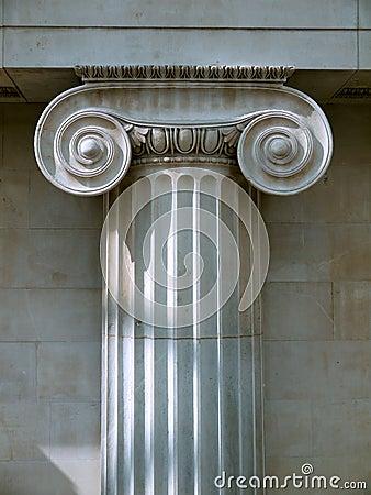Architecture: Ionic column capital