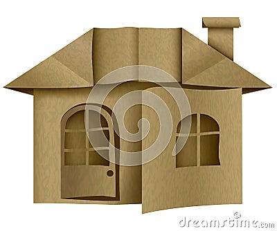 architecture maison de carton de papier origami illustration stock image 67669550. Black Bedroom Furniture Sets. Home Design Ideas