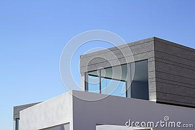 Architecture modern houses crop details