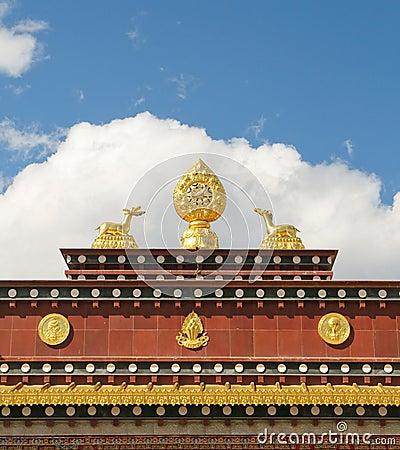 Free Architecture Of Songzanlin Tibetan Monastery Stock Image - 9162911