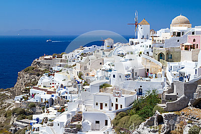 Architecture Of Oia Village On Santorini Royalty Free Stock Photo - Image: 25490995