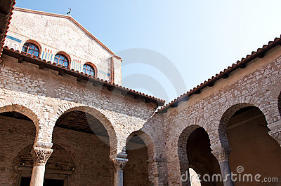Architecture of an old Croatian cathedral from Rom