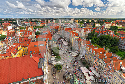 Architecture of old town in Gdansk