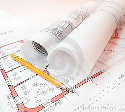 Free Architecture Plans Royalty Free Stock Photos - 20328008