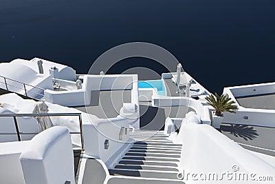 Architecture of Santorini island on Greece
