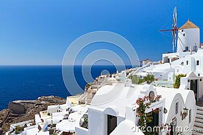 Architecture of Santorini island in Greece