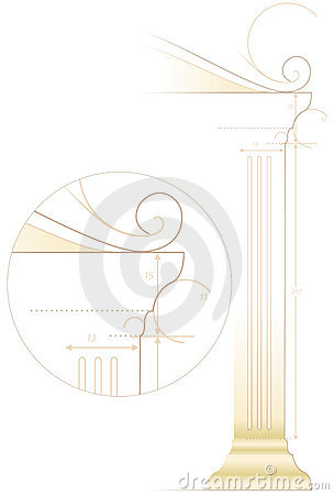 Free Architecture Sketch Of Column Royalty Free Stock Image - 2592826