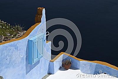Architecture style of Santorini island