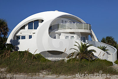 Architecture Unusual Dome Shape Beach House Royalty Free
