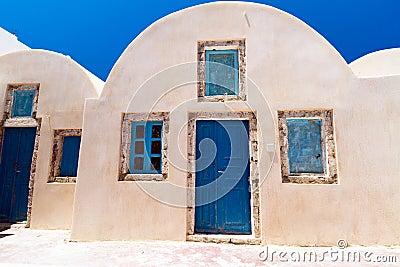 Architectuur van Grieks dorp