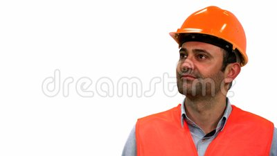 Architekta lub pracownika budowlanego dopatrywanie zbiory wideo