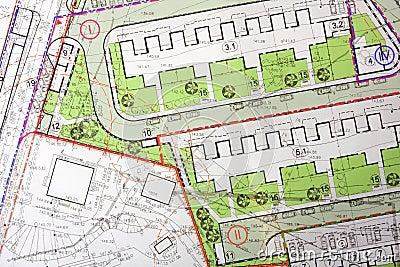 Architektonischer allgemeiner Plan