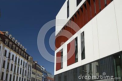 Architektur alt gegen neues