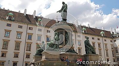 Architektura Europa, zabytek Kaiser Franz 1 w starym mieście zdjęcie wideo