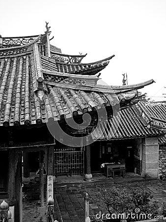 Architettura cinese antica immagini stock libere da for Casa tradizionale cinese