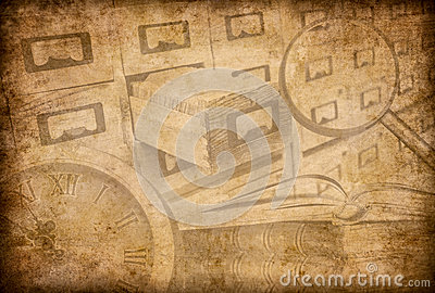 Archive, museum or library grunge background