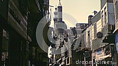Archivistisch Khan Al-Khalili Bazaar stock footage