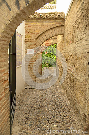 Archs in the big old souk in Cordoba