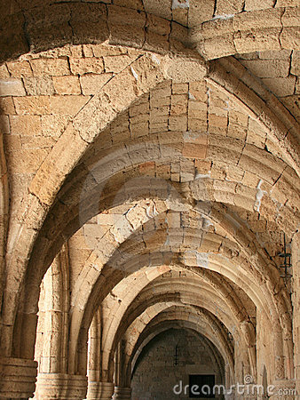 Archs of museum in Rhodes