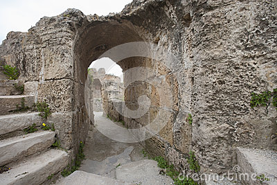 Archway at Antonine Thermae, Tunis, Tunisia