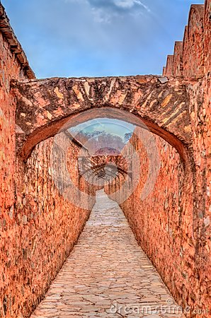 Free Archway Between Amer And Jaigarh Fort In Jaipur - Rajasthan, India Stock Photography - 113330762