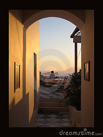 Free Archway Through To Sunset Stock Image - 1409261