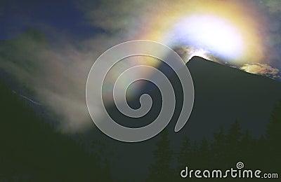 Arco-íris do cristal de gelo
