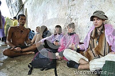 Arco-íris que recolhe em Palenque Imagem Editorial