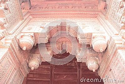Arco antiguo del fuerte de Agra