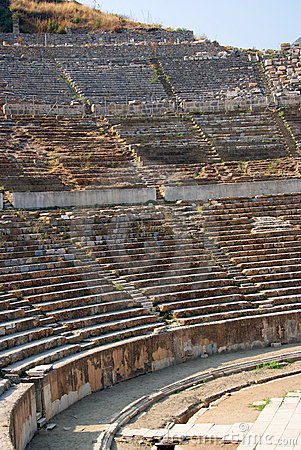 Arco del particolare del teatro antico del ephesus