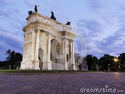 Arco Della Pace, Milan, Italy.