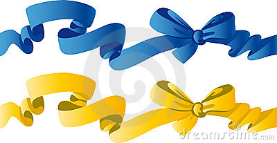 Arco di colore giallo e dell azzurro