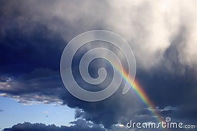 Arco iris en el cielo