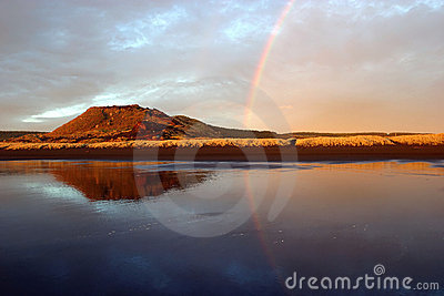 Arco-íris refletindo