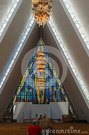The Arctic Cathedral. Editorial Photo
