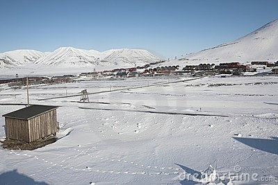 The Arctic city of Longyearbyen - Spitsbergen Editorial Photo