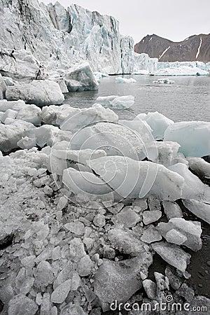 Arctic glaciers melting - Spitsbergen