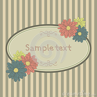 Сard template with flowers