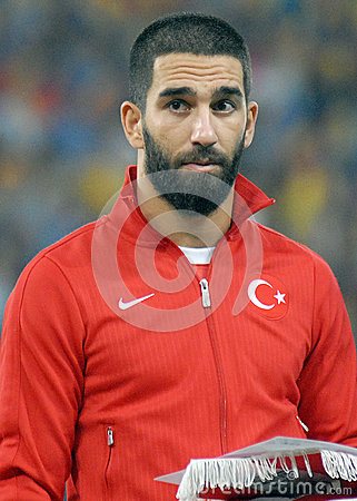 Arda Turan in Romania-Turkey World Cup Qualifier Game Editorial Image