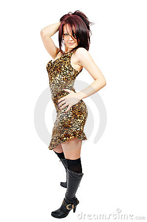 Free Ardent Beautiful Posing Girl Stock Photography - 5781252