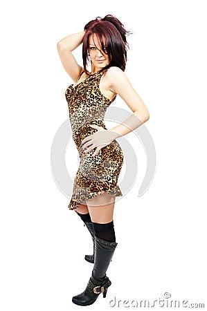 Ardent beautiful posing girl
