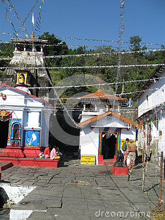 Ardhnareswar Temple beside Shiva Temple, Guptakashi, India